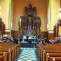 Photo taken at Queen of Angels Parish by Cory T. on 4/17/2012