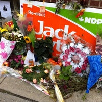 Photo taken at Jack Layton MP Toronto Danforth Constituency Office by Connie C. on 8/26/2011