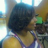 Photo taken at Shear Perfection Hair Salon & Barber/Braiding Shop by Lil-Bit on 10/18/2011