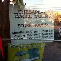 Photo taken at Chesapeake Bagel Bakery by Dave on 1/9/2011