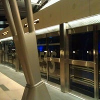 Photo taken at ARIA Express Bellagio Station by Jeremy D. on 12/11/2011