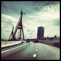 Photo taken at Bhumibol 1 Bridge by Korakan Y. on 7/6/2012