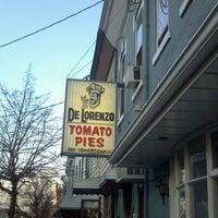 Photo taken at De Lorenzo's Tomato Pies by aaron l. on 1/7/2012