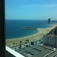 Photo taken at Hotel Arts Barcelona by Anicée V. on 5/31/2012