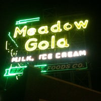 Photo taken at Meadow Gold Sign by Jack M. on 8/8/2011