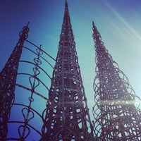 Photo taken at Watts Towers of Simon Rodia State Historic Park by Andrew G. on 7/8/2012