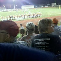 Photo taken at MHS Football Field by Jessi B. on 9/3/2011