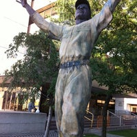 Photo taken at Jackie Robinson Statue by Stranger D. on 8/23/2011