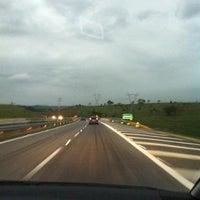 Photo taken at Rodovia Governador Carvalho Pinto by Rosely H. on 11/18/2011