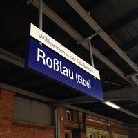 Photo taken at Bahnhof Roßlau (Elbe) by MyWhite C. on 6/16/2012