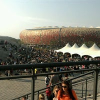 Photo taken at FNB Stadium by Simon G. on 10/29/2011
