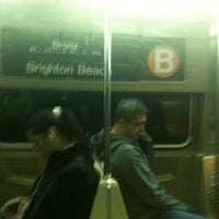 Photo taken at MTA Subway - B Train by Michael F J. on 11/3/2011