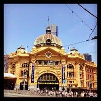 Photo taken at Flinders Street Station by M!N on 1/29/2012