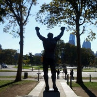 Photo taken at Rocky Statue by Antonio C. on 10/25/2011