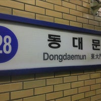 Photo taken at Dongdaemun Stn. by Eungbong K. on 12/18/2011