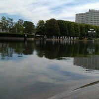 Photo taken at Christian Science Reflecting Pool by Leah R. on 8/13/2011