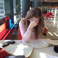 Photo taken at Entressen kirjasto by Mari . on 3/14/2012