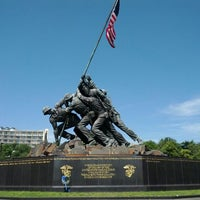 Photo taken at US Marine Corps War Memorial (Iwo Jima) by Zack M. on 5/18/2012