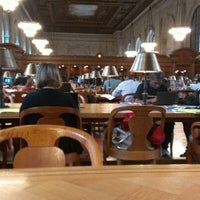 Photo taken at Rose Main Reading Room - New York Public Library by Lance N. on 9/4/2012