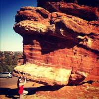 Photo taken at Balanced Rock At Garden Of The Gods by Janelle on 7/23/2012