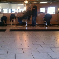 Photo taken at Lifestyles Barber and Sneaker Shop by JL J. on 11/30/2011