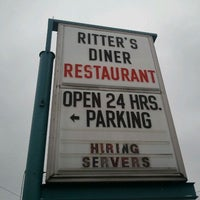 Photo taken at Ritter's Diner by Ken P. on 1/14/2012