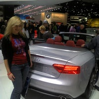 Photo taken at Audi Stand at Detroit Auto Show by Erwin C. on 1/18/2012