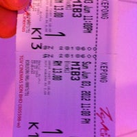 Photo taken at TGV Cinemas by Alice L. on 6/3/2012