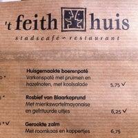 Photo taken at Stadscafé-Restaurant 't Feithhuis by Daan S. on 8/6/2011