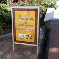 Photo taken at Premium Cafe & Étterem by Jan on 11/12/2011