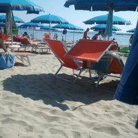 Photo taken at Gallanti Beach Pomposa by Giulia G. on 8/4/2012
