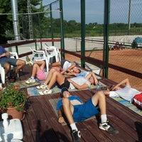 Photo taken at Röpte teniszpálya/lelátó :o) by Anikó Z. on 7/31/2012