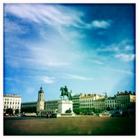 Photo taken at Place Bellecour by Seattle J. on 7/30/2012