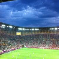 Photo taken at Stadion Energa Gdańsk by Laura I. on 6/19/2012