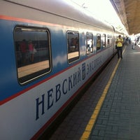 Photo taken at Поезд № 748 «Невский экспресс» Москва — Санкт-Петербург by Tango🧞♂️ on 8/8/2012