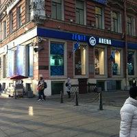 Photo taken at Зенит Арена by Aleksandras K. on 3/26/2012