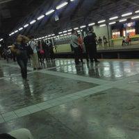 Photo taken at Yellow Line - Araneta Center-Cubao Station by Ecks A. on 6/21/2012