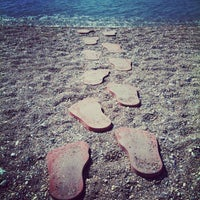 Photo taken at Bedya Beach by Burcak A. on 8/13/2012