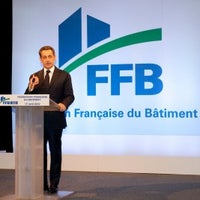 Photo taken at Fédération française du bâtiment by Nicolas Sarkozy on 4/18/2012