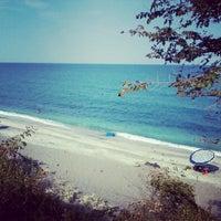 Photo taken at Velika Beach by Lampros A. on 8/19/2012