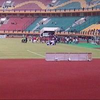 Photo taken at Stadion Utama Riau by Pamy on 7/7/2012