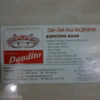 Photo taken at Dandito Seafood   Restaurant by Mas Agung L. on 6/11/2012