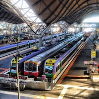Photo taken at Southern Cross Station by Edward T. on 4/13/2012
