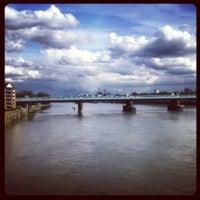 Photo taken at Putney Bridge by Jonathan H. on 4/11/2012