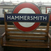 Photo taken at Hammersmith London Underground Station (District and Piccadilly lines) by Alessio F. on 3/25/2012