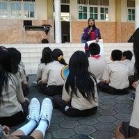 Photo taken at Unggul Sakti Senior High School by Widya F. on 3/24/2012