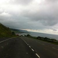 Photo taken at Aberarth Beach by Helen on 7/9/2012