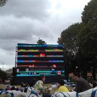 Photo taken at Parque de la 93 by Fabio L. on 6/27/2012
