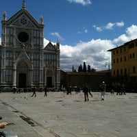 Photo taken at Piazza Santa Croce by Eveline C. on 4/21/2012