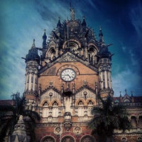 Photo taken at Chhatrapati Shivaji Terminus by Viraj M. on 8/28/2012